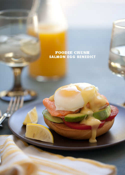 Post image for Salmon and Bagel Egg Benedict for Mother's Day Brunch