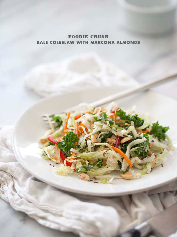 Post image for Kale and Cabbage Coleslaw with Marcona Almonds