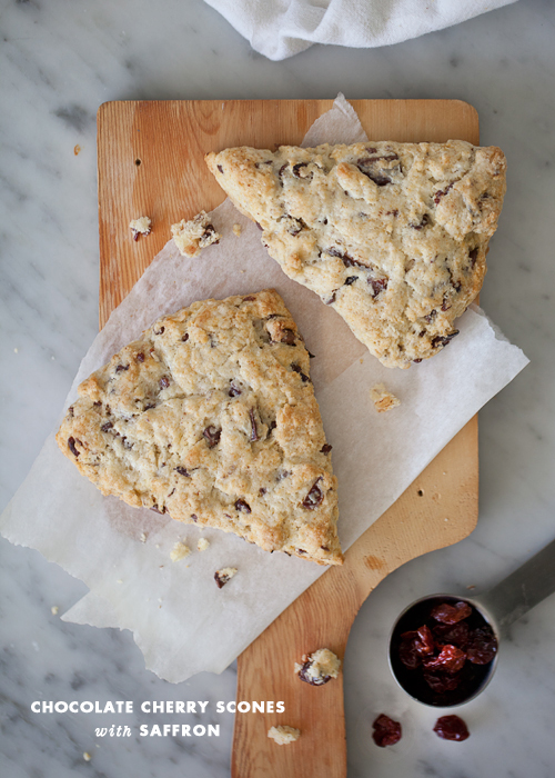 Foodie Crush Chocolate Cherry Scones