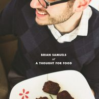 Crushing On Interview with Brian Samuels of A Thought for Food and Chocolate Cherry Scones with Saffron