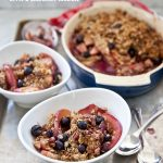 Recipe Apple Blueberry Crumble with Pecans from Foodie Crush
