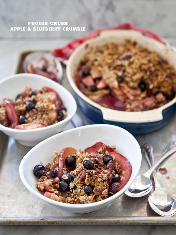 Apple & Blueberry Crumble - foodiecrush