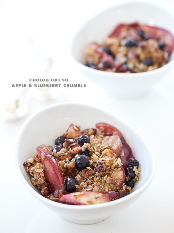 Recipe Apple Blueberry Crumble Foodie Crush