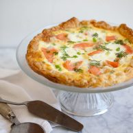 Smoked Salmon Quick Quiche for Breakfast or Brinner