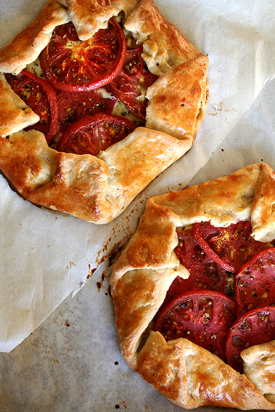 Tomato, Corn and Cheese Galette from Alexandra's Kitchen on foodiecrush.com
