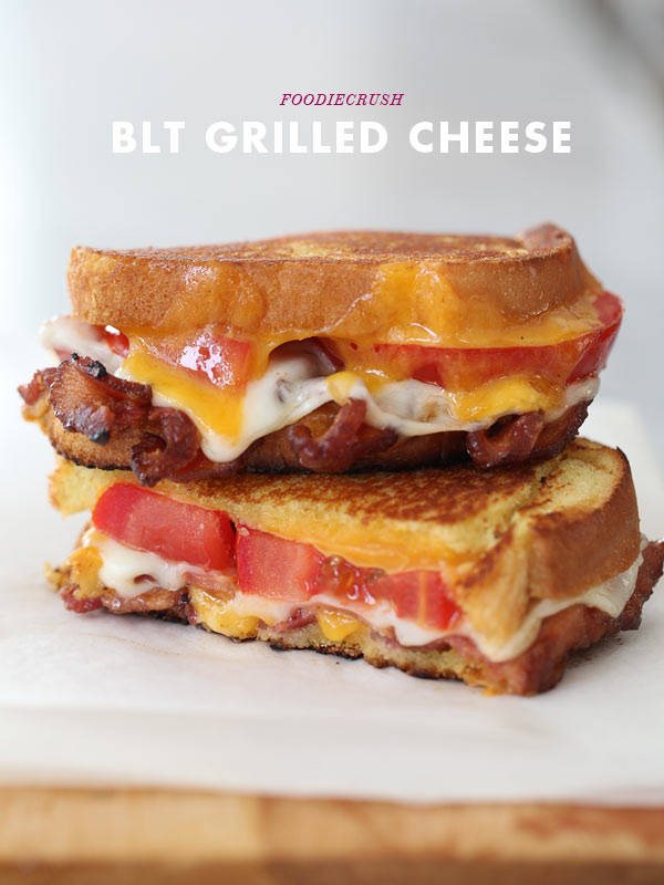 BLT Grilled Cheese Sandwich | foodiecrush.com