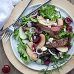 Thumbnail image for Friday Faves and Balsamic Skirt Steak Salad with Stone Fruit