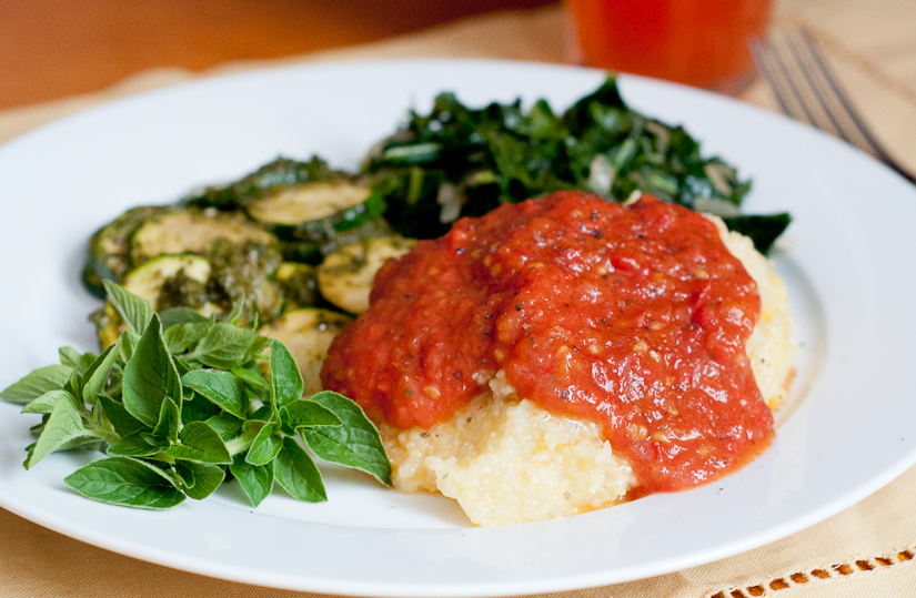 Polenta Casserole With Fontina And Tomato Sauce Recipes — Dishmaps