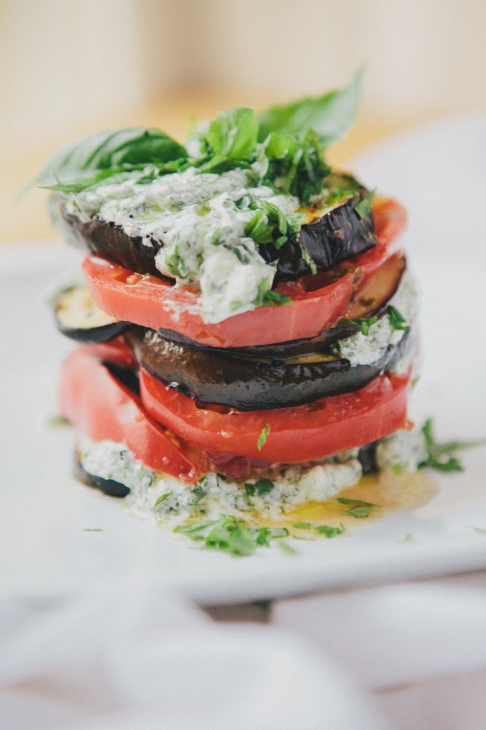 Eggplant Tomato Stacks from Happyolks on foodiecrush.com