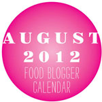 Friday Faves and August 2012 Food Blog Calendar Free Download
