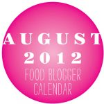 Food Blogger Calendar August 2012 from FoodieCrush