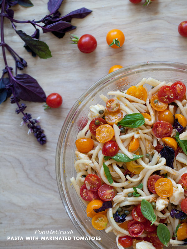 Pasta with Marinated Cherry Tomatoes