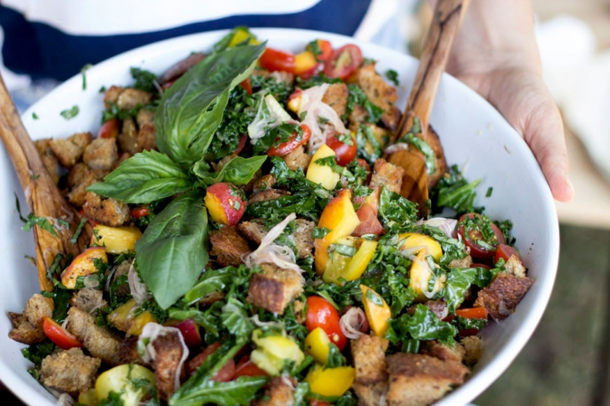 Summer Panzanella from The First Mess on foodiecrush.com