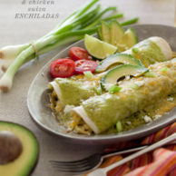 Avocado Cream and Chicken Suiza Enchiladas Recipe