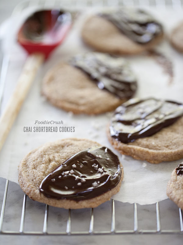Chai Shortbread Cookie from FoodieCrush.com