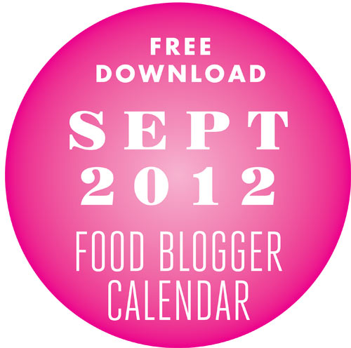 Food Blogger Calendar Sept 12