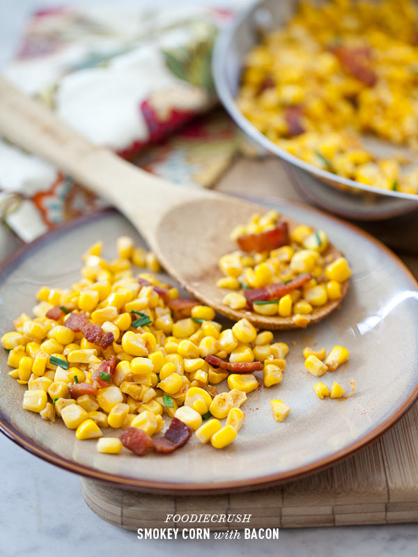 Smoked Paprika Corn with Bacon