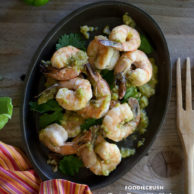 Tomatillo Shrimp Recipe from FoodieCrush