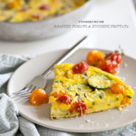 Roasted Tomato and Zucchini Frittata Recipe