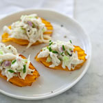 Thumbnail image for Crab Salad Sweet Potato Chip Bites and a Virtual Baby Shower
