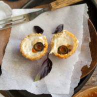 Fried Cheese Eyeballs from FoodieCrush.com