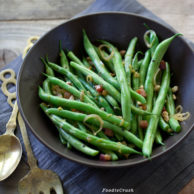 Pancetta and Hazelnut Green Beans from foodiecrush.com