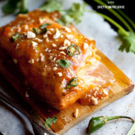 Baked Salmon with Spicy Plum Preserves and a GIVEAWAY