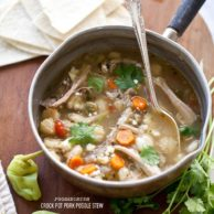 Crockpot Pork Posole Stew from foodiecrush.com