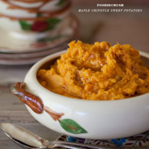 Maple Chipotle Sweet Potatoes from foodiiecrush.com