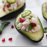 Thumbnail image for Shrimp and Scallop Ceviche Stuffed Avocados