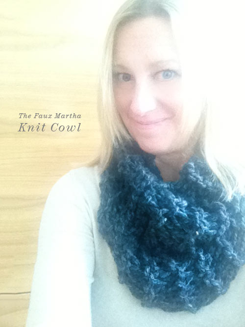 Chunky Knit Cowl from The Faux Martha via foodiecrush.com