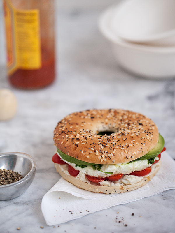Egg & Veggie Sandwich from FoodieCrush.com
