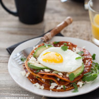 Crushing on Muy Bueno Cookbook and Stacked Breakfast Enchiladas Recipe