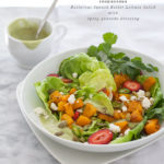 Butternut Squash Butter Lettuce Salad with Spicy Avocado Dressing