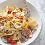 Sausage and Marsala Pappardelle Pasta