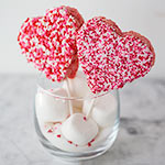 Thumbnail image for Rice Krispie Valentine Lollipops