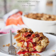 Orange Baked French Toast with Almond Crumble | foodiecrush.com