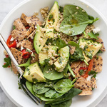 Quinoa and Avocado Chimichurri Salad for Food Bloggers Against Hunger