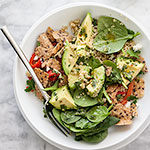 Thumbnail image for Quinoa and Avocado Chimichurri Salad for Food Bloggers Against Hunger