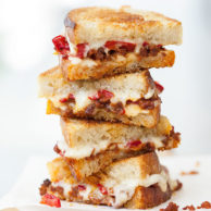 Chorizo and Peppadew Pepper Grilled Cheese | FoodieCrush.com