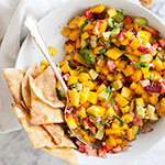 Dessert Nachos with Strawberry, Mango and Avocado Salsa