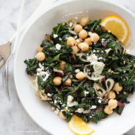 Garlicky Swiss Chard and Chickpeas