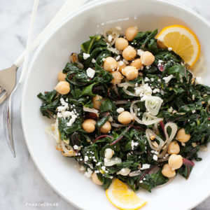 Garlicky Swiss Chard & Chickpeas | FoodieCrush.com