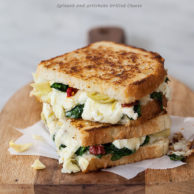 Spinach and Artichoke Grilled Cheese and Grilled Cheese Academy's Recipe Showdown