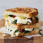 Thumbnail image for Spinach and Artichoke Grilled Cheese and Grilled Cheese Academy's Recipe Showdown