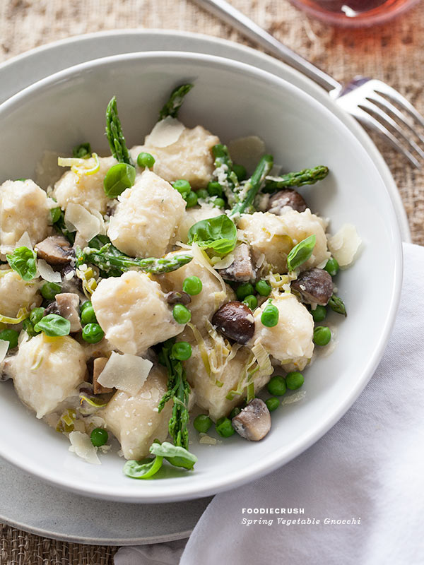 Spring Vegetable Gnocchi | foodiecrush.com