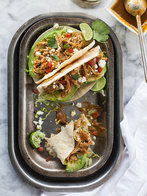 Stewed Chicken Tacos | foodiecrush.com