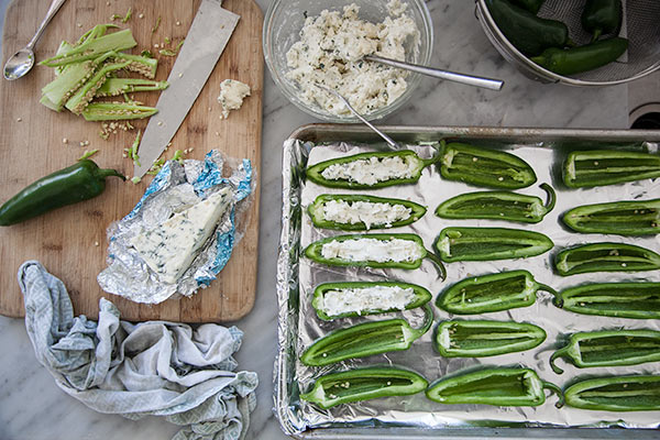 Stuffed Jalapenos with Gorgonzola and Bacon | foodiecrush.com