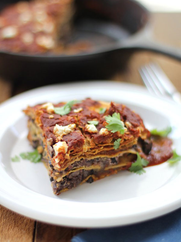 Black-Bean-and-Goat-Cheese-Enchilada-Skillet-