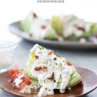 Blue Cheese Wedge Salad | foodiecrush.com